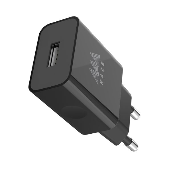 AAAmaze Caricatore rete - travel charger 1 USB 2.4A Nero