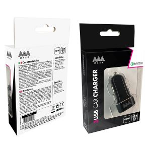 AAAmaze Caricatore auto con doppia USB + TYPE - C - car charger Alu fast 3 out TYPE-C 45W