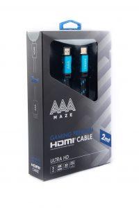 AAAmaze Cavo Gaming HDMI Flat Cable Ultra HD premium 2 metri