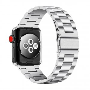 Cinturino AAAmaze Apple Watch in acciaio silver