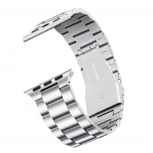 Cinturino AAAmaze Apple Watch in acciaio silver