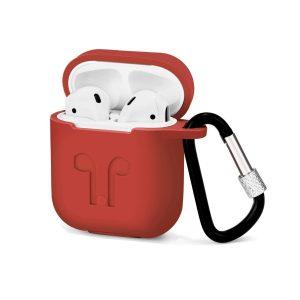 Custodia AAAmaze per Apple Airpods in silicone Red