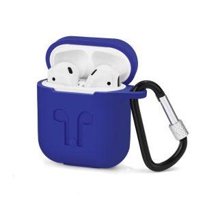 Custodia AAAmaze per Apple Airpods in silicone Light Blue