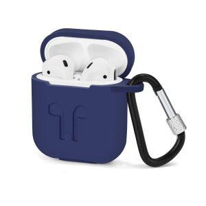 Custodia AAAmaze per Apple Airpods in silicone Dark Blu