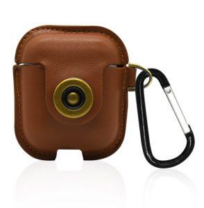 Custodia AAAmaze per Apple Airpods in pelle Honey Brown