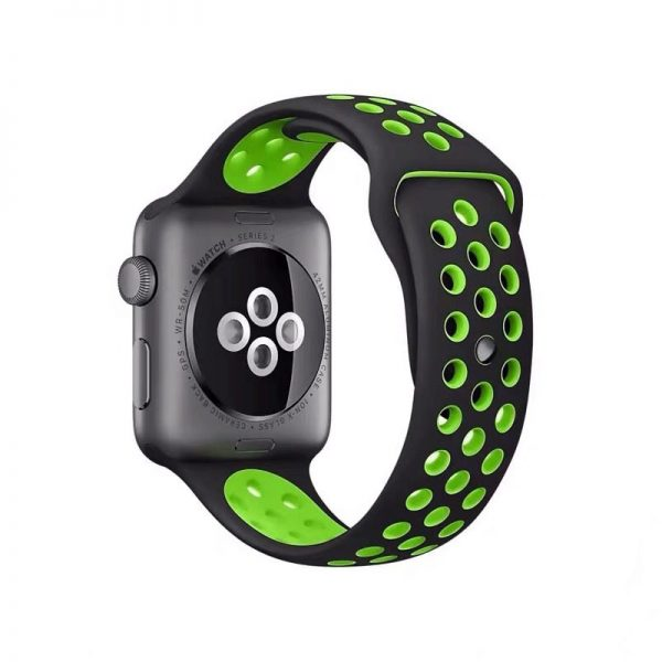 Cinturino AAAmaze Apple Watch in silicone Black/Neon Green