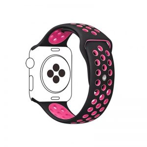Cinturino AAAmaze Apple Watch in silicone Black/Neon Pink
