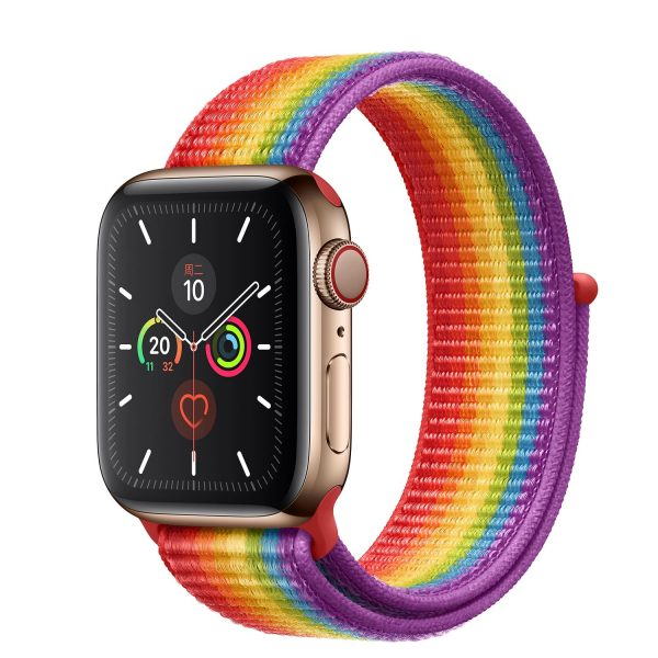 Cinturino AAAmaze Apple Watch in nylon Arcobaleno