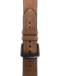 Cinturino AAAmaze Apple Watch in pelle e silicone Dark Brown