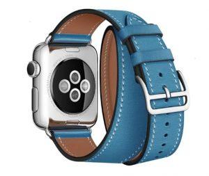 Cinturino AAAmaze Apple Watch in pelle Turquoise