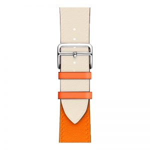 Cinturino AAAmaze Apple Watch in pelle Cream/Orange
