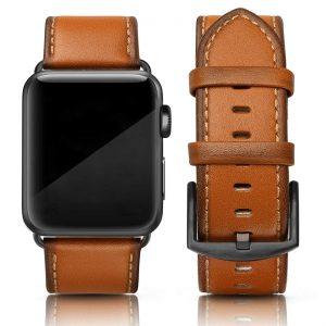 Cinturino AAAmaze Apple Watch in pelle Honey Brown