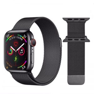 Cinturino AAAmaze Apple Watch in maglia milanese Dark Grey