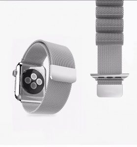 Cinturino AAAmaze Apple Watch in maglia milanese Silver