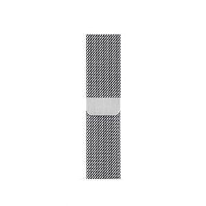 Cinturino AAAmaze Apple Watch in maglia milanese Silver