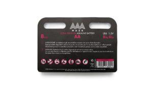 Pile AAAmaze AA Ultra Premium 8 pezzi stilo